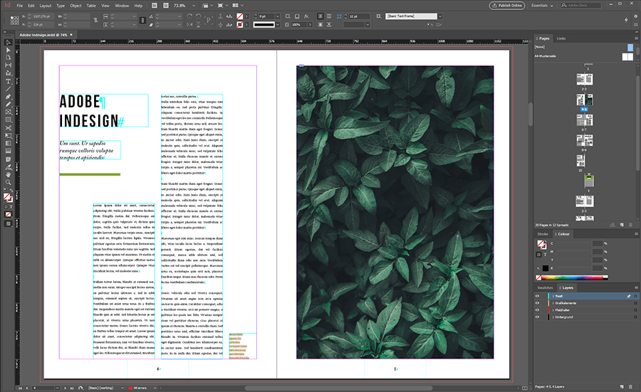 indesign schulung